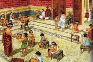 Где возникли первые школы?