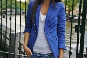 Женский синий пиджак. С чем носить?